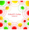 Abstract background with colorful balls vector image