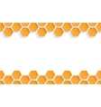 Abstract seamless texture with honeycombs vector image vector image