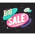 Advertising big sale banner layout special offer vector image