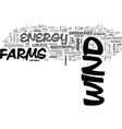 an overview of wind as an energy source text word vector image vector image