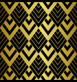 art deco golden seamless pattern gatsluxury vector image