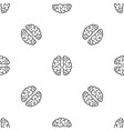 artificial brain pattern seamless vector image vector image