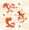 background with squirrels seamless pattern vector image vector image