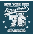 Basketball champion t-shirt vector image