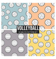black volleyball ball pattern repeat seamless in vector image