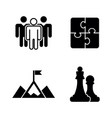 business strategy simple related icons vector image vector image