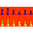 Chess Silhouettes 3D vector image
