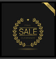 clearance sale icon vector image vector image