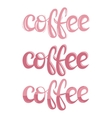 Coffee theme lettering vector image