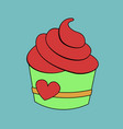 cupcake with sweet cream and bright colorful vector image vector image