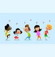 dancing cartoon children vector image vector image