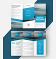 design a tri-fold brochure vector image vector image