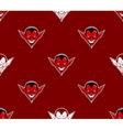 Devil Head Pattern vector image vector image