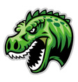 dinosaur head vector image vector image