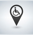 disabled handicap sign in map pointer vector image vector image