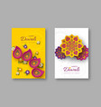 diwali festival holiday posters with paper cut vector image