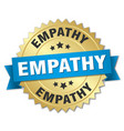 empathy round isolated gold badge vector image vector image