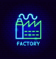 factory neon label vector image