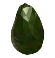 fruit avocado low poly style delicious avocado vector image