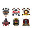 game emblem set cyber sport team signs vector image vector image