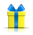 gift box icon surprise present template blue vector image