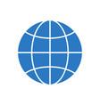 globe glyph icon vector image