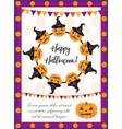 halloween poster happy halloween templates vector image vector image