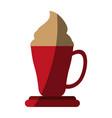 hot coffee cup icon vector image vector image