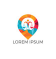 libra and map pointer logo design vector image vector image