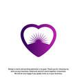 love sun creative logo concepts abstract colorful vector image vector image