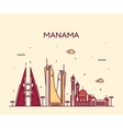 Manama skyline silhouette linear style vector image vector image