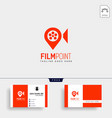 movie point navigator or pin map cinema simple vector image