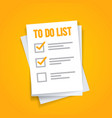 paper sheets to do list icon concept vector image