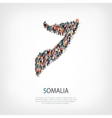 people map country Somalia vector image vector image