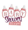 Pink Baby Shower Bottles vector image vector image