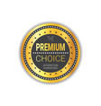 premium choice seal golden medal product quality vector image