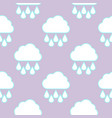 raining cloud and falling drops seamless pattern vector image