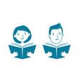 reading book school education symbol vector image vector image