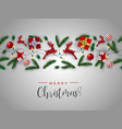 red and gold christmas 3d ornament layout card vector image vector image