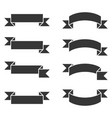 ribbons banner set on white background vector image vector image