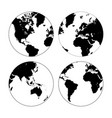 set of high detailed globes vector image vector image