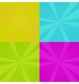 set of pop art backgrounds vector image vector image
