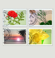 Set of post stamps Plants theme vector image vector image