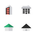 set of simple real icons elements construction vector image vector image