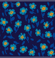 simple pattern with small scale blooming flowers vector image
