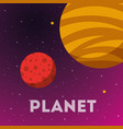 space solar system concept vector image