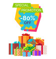 special promotion -80 off vector image vector image