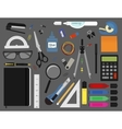 Stationery tools color vector image vector image