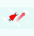 superhero businessman flying up to target are vector image