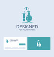 testing chemistry flask lab science business logo vector image